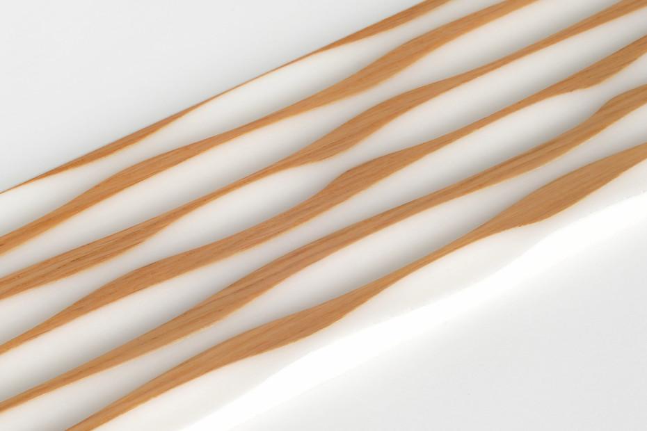 Wave panel │ solid surface veneered with oak │ südsee