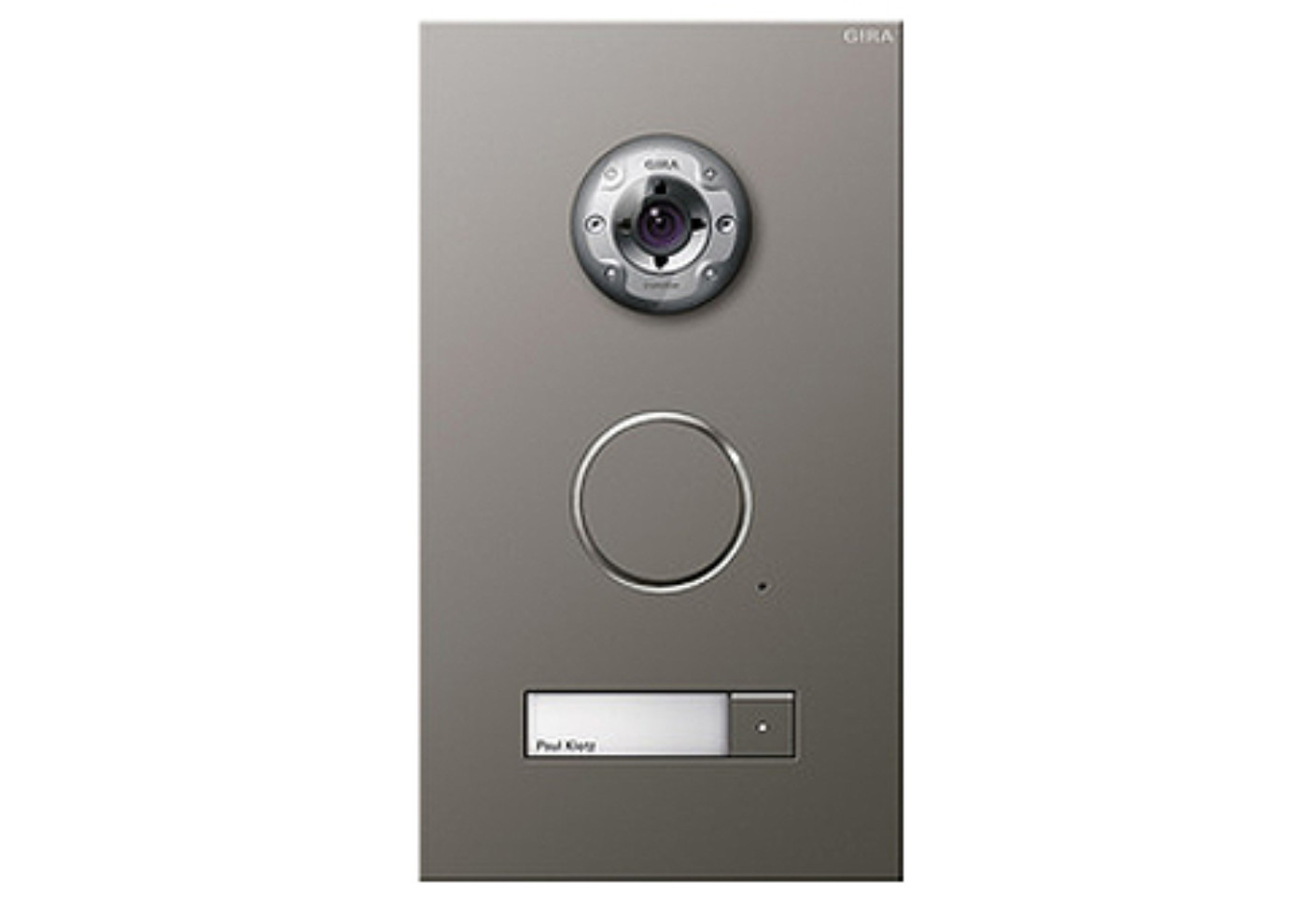 Door station camera stainless steel by gira stylepark for Door video camera