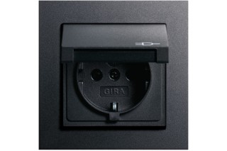 E2 Socket with cover  by  Gira