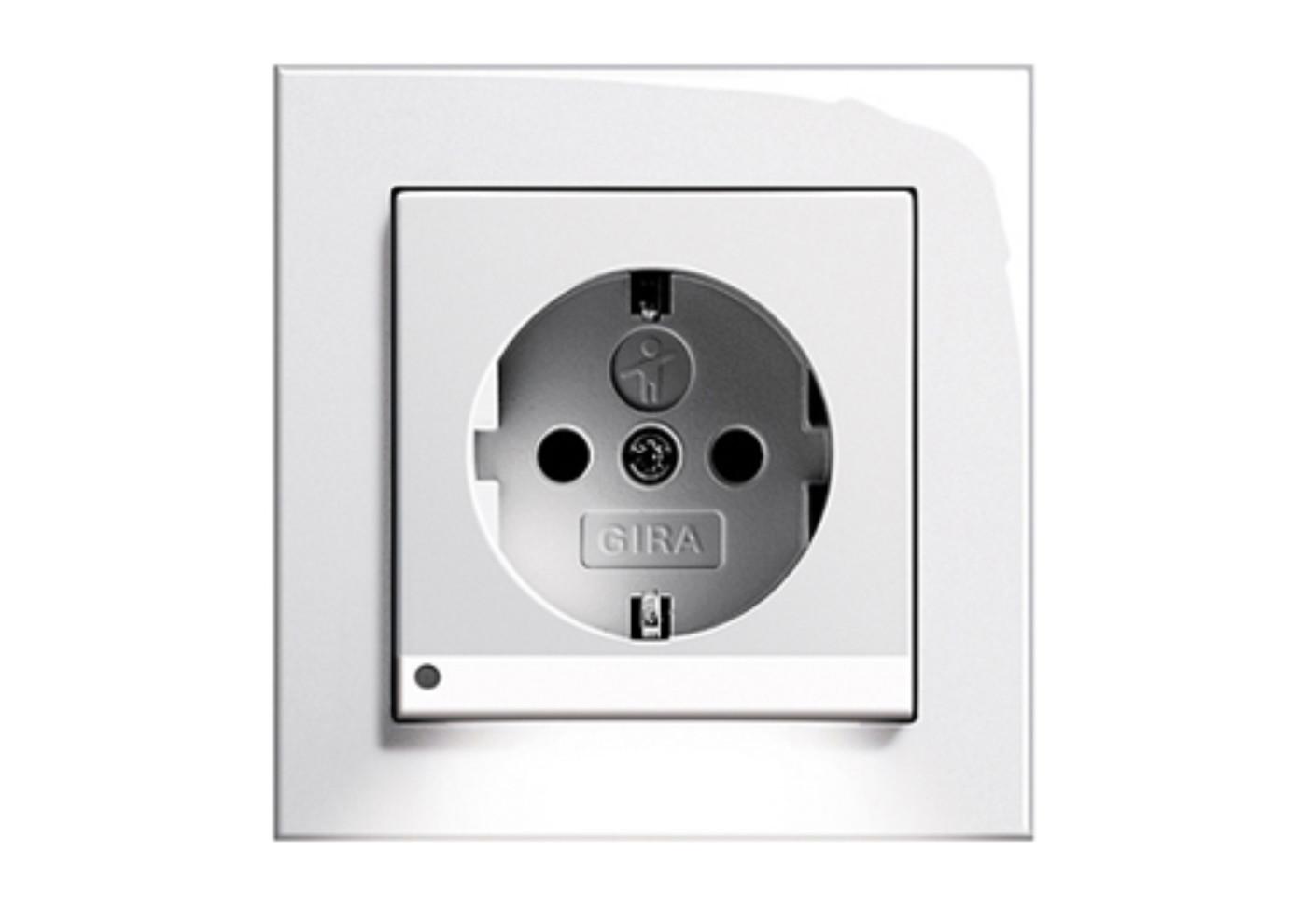 e2 socket with led navigationlight by gira stylepark. Black Bedroom Furniture Sets. Home Design Ideas