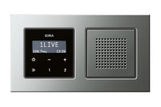 E22 flush-mounted radio RDS  by  Gira