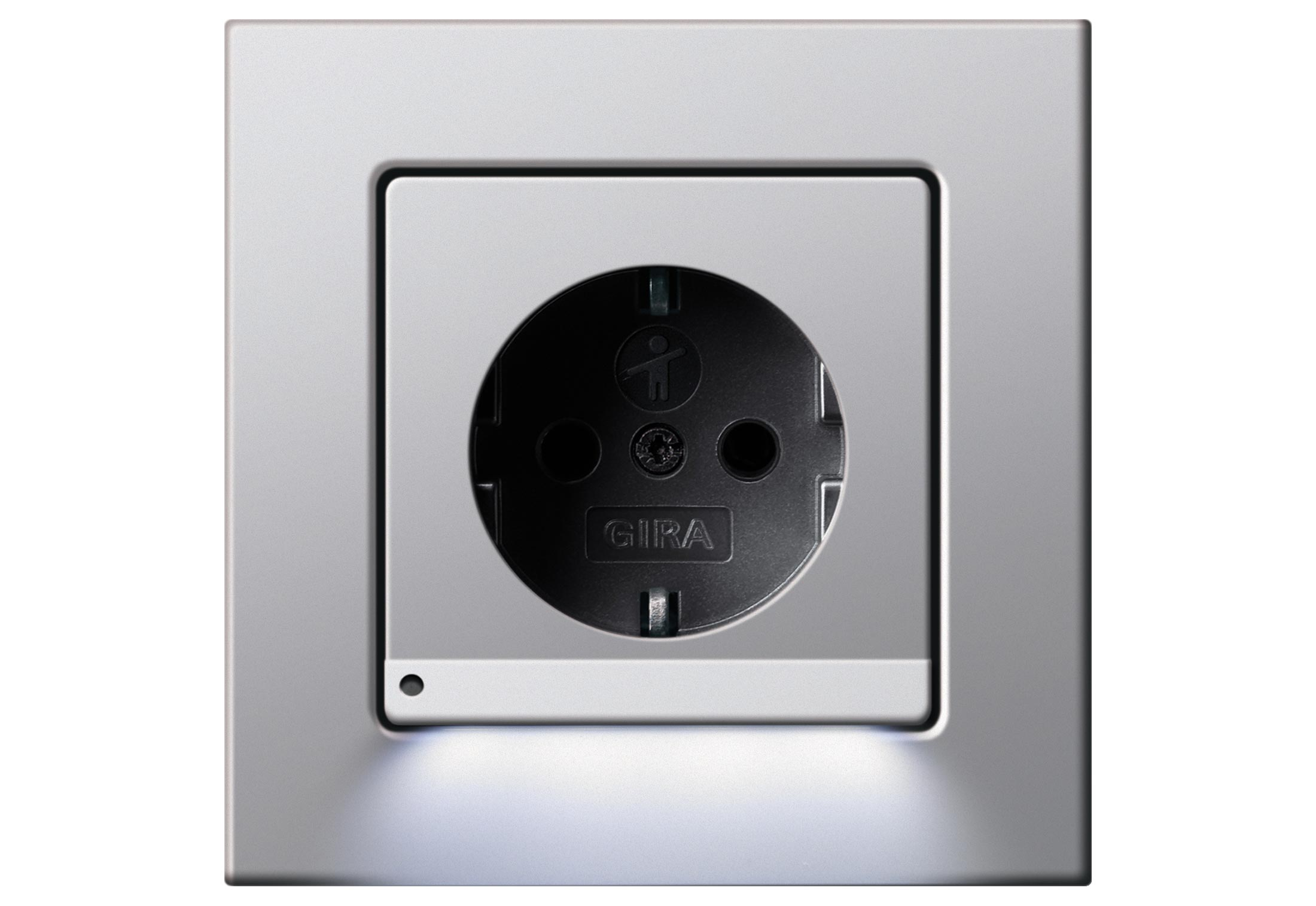 e22 socket with led orientation light by gira stylepark. Black Bedroom Furniture Sets. Home Design Ideas