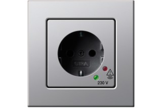 E22 socket with overvoltage protection  by  Gira