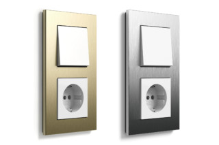 Esprit Aluminium bright gold and stainless steel  by  Gira