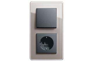 Esprit switch / socket  by  Gira