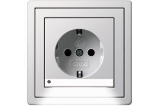 F100 schuko-socket with LED-navigationlight  by  Gira