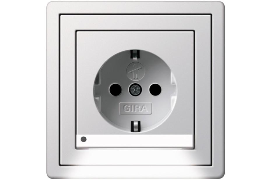 F100 schuko-socket with LED-navigationlight