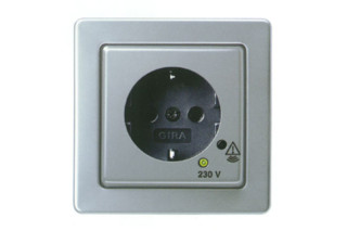 High-Grade Steel Range series 21 socket / overvoltage protection  by  Gira