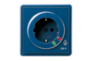 S-Color socket outlet with overload protection  by  Gira