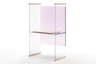 Diapositive working desk high  by  GLAS ITALIA