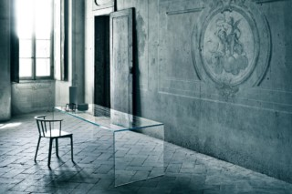 Ghiacciolo Ponte high table  by  GLAS ITALIA