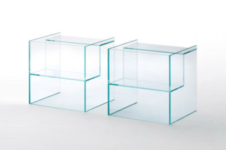 Labyrinth side table  by  GLAS ITALIA