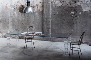 Post Modern dining table  by  GLAS ITALIA