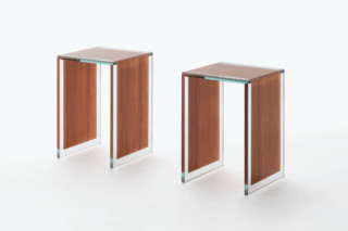 Sublimazione side table  by  GLAS ITALIA