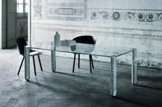 T-System dining table  by  GLAS ITALIA