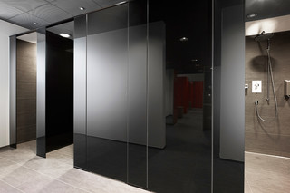 GM Cabinmart sanitary partitions  by  Glas Marte