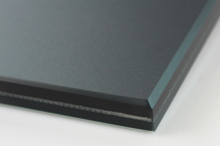 SWISSSATIN® black green metallic  by  Glas Trösch