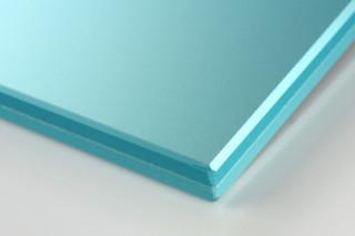 SWISSSATIN® Hellblau metallic  von  Glas Trösch