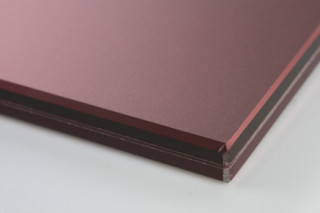 SWISSSATIN® red brown metallic  by  Glas Trösch