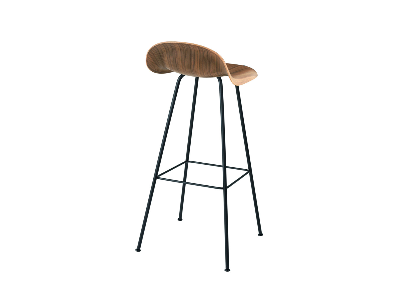 Chair i stool with metal legs by gubi stylepark for Stool chair