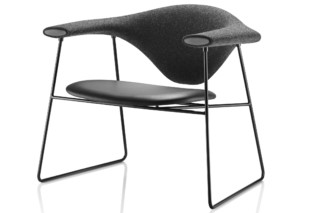 Masculo Lounge Chair Leder  von  Gubi