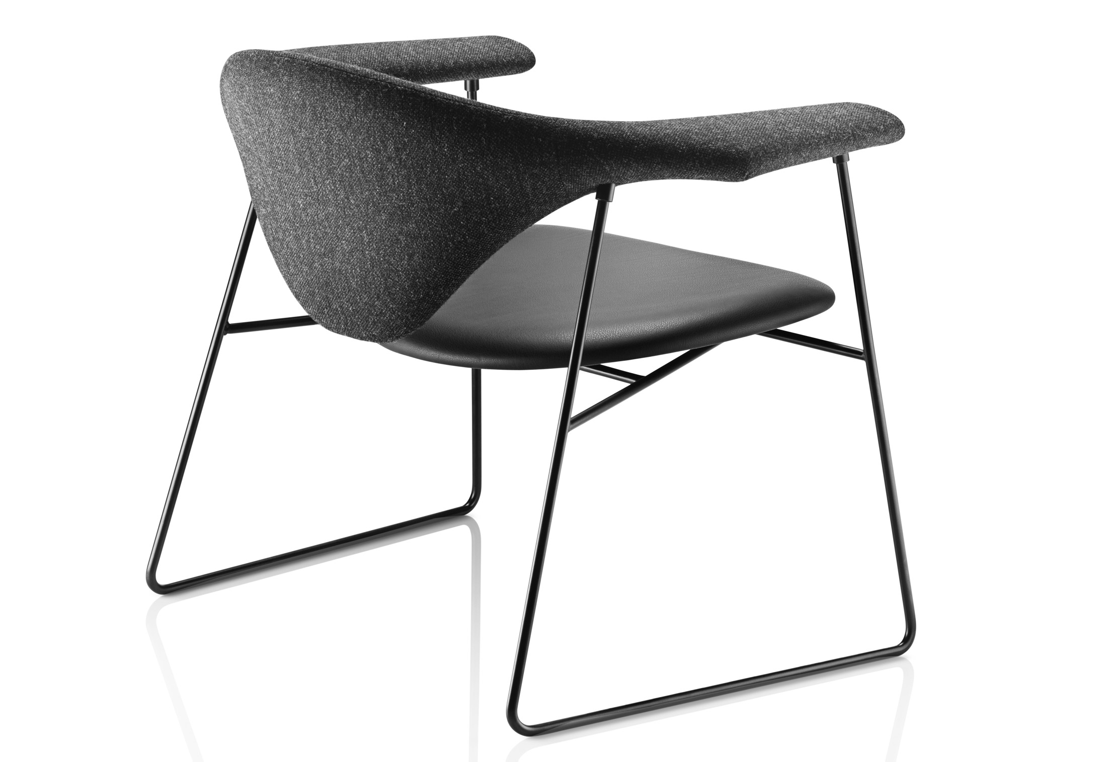 Masculo Lounge Chair Leather By Gubi Stylepark