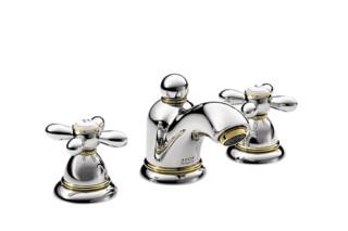 Axor Carlton 3-Loch Waschtischarmatur für Handwaschbecken mit Kreuzgriffen DN15  von  AXOR