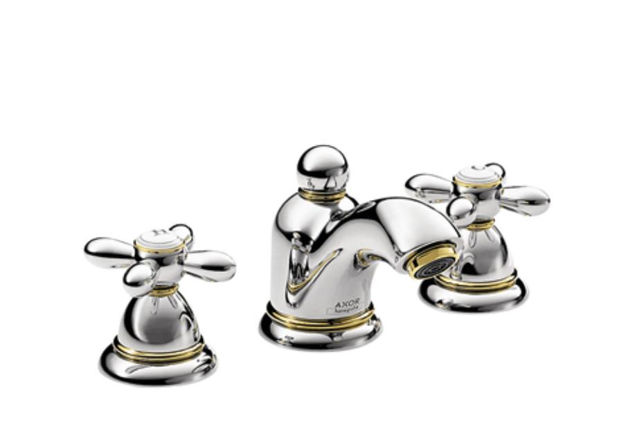Axor Carlton 3-Loch Waschtischarmatur für Handwaschbecken mit Kreuzgriffen DN15
