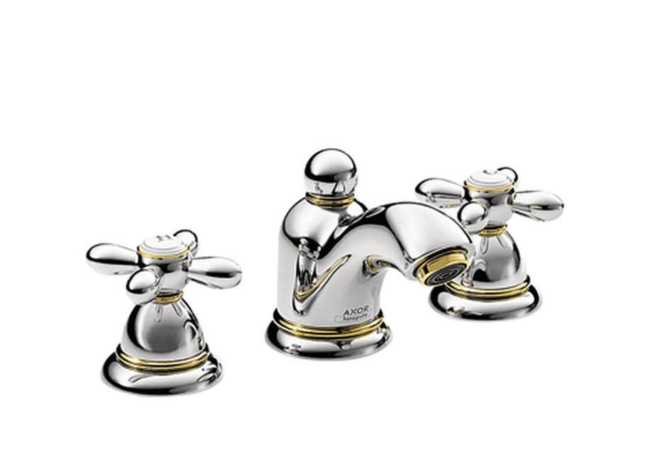 Axor Carlton 3-Hole Basin Mixer for hand basins with cross handles DN15