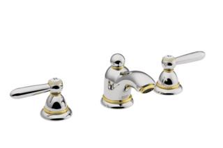 Axor Carlton  3-Loch Waschtischarmatur für Handwaschbecken mit Hebelgriffen DN15  von  Axor