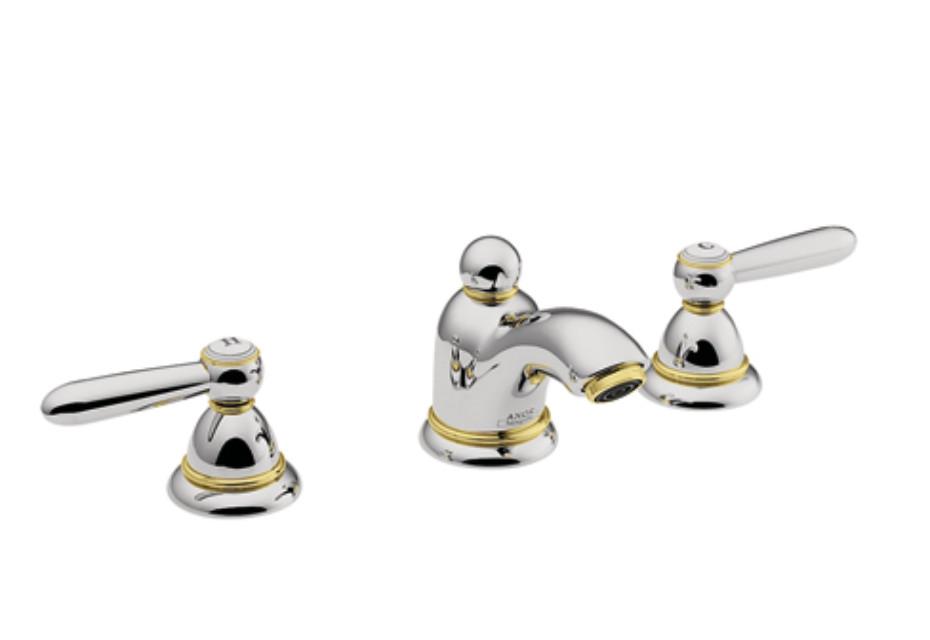 Axor Carlton  3-Loch Waschtischarmatur für Handwaschbecken mit Hebelgriffen DN15