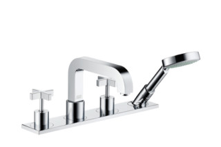 Axor Citetrio 4-Hole Tile Mounted Bath Mixer with cross handles and plate DN15  by  Axor