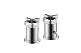Axor Citterio 2-Hole Thermostatic Rim-Mounted Bath Mixer with cross handles DN15  by  Axor