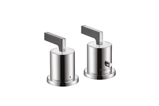 Axor Citterio 2-Hole Thermostatic Rim-Mounted Bath Mixer with lever handles DN15  by  AXOR