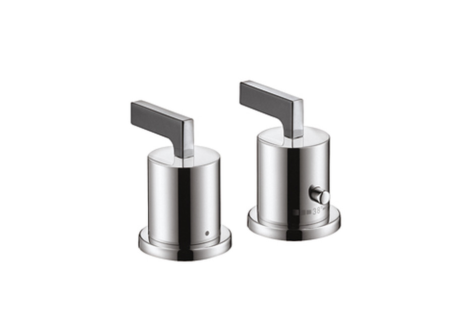 Axor Citterio 2-Hole Thermostatic Rim-Mounted Bath Mixer with lever handles DN15