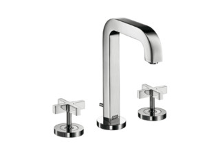 Axor Citterio 3-Hole Basin Mixer with cross handles and spout 140mm DN15  by  Axor