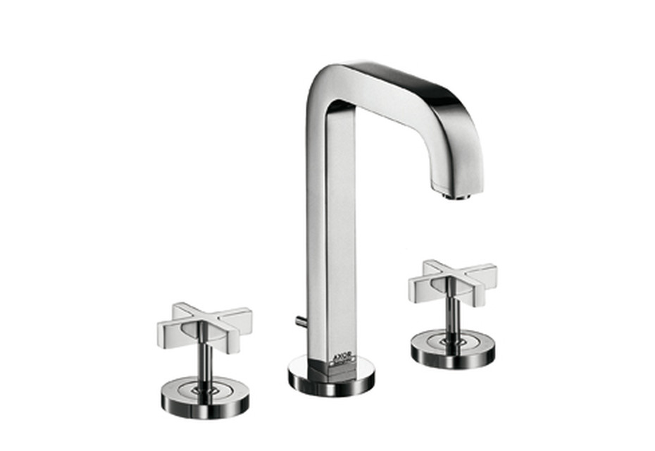 Axor Citterio 3-Hole Basin Mixer with cross handles and spout 140mm DN15