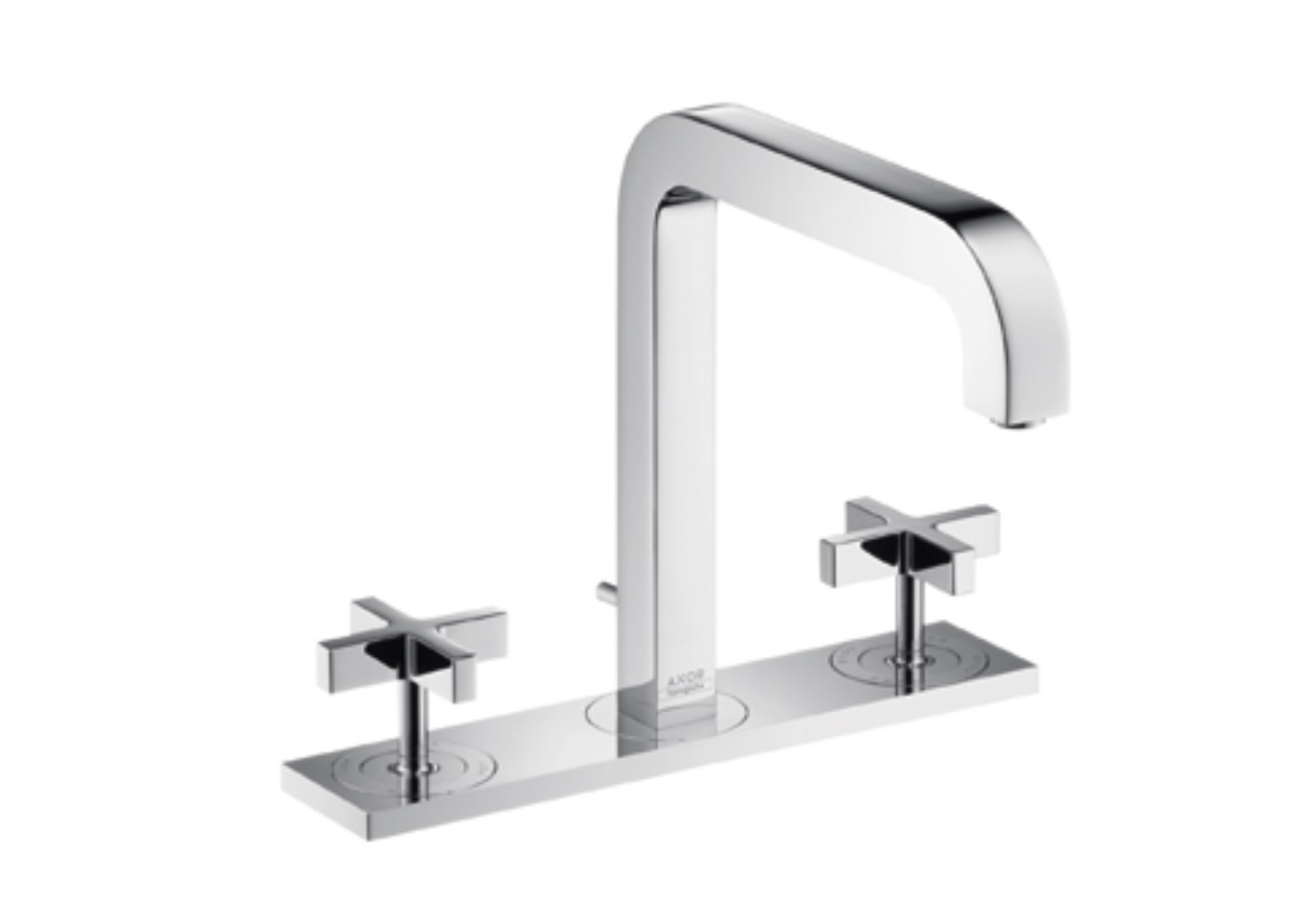 Axor Citterio 3-Hole Basin Mixer with cross handles, plate and spout ...