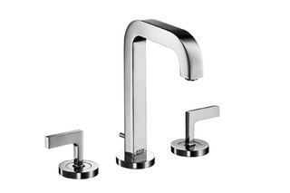 Axor Citterio 3-Hole Basin Mixer with lever handles and spout 140mm DN15  by  AXOR