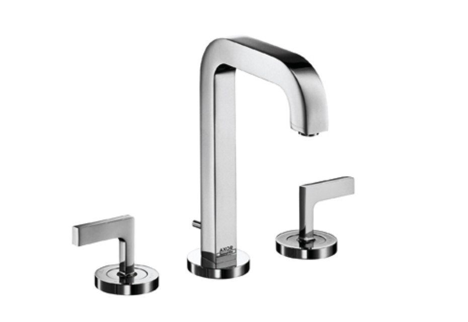 Axor Citterio 3-Hole Basin Mixer with lever handles and spout 140mm DN15