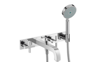 Axor Citterio 3-Hole Bath Mixer with cross handles and plate DN15  by  Axor