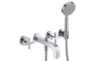 Axor Citterio 3-Hole Bath Mixer with cross handles DN15  by  Axor