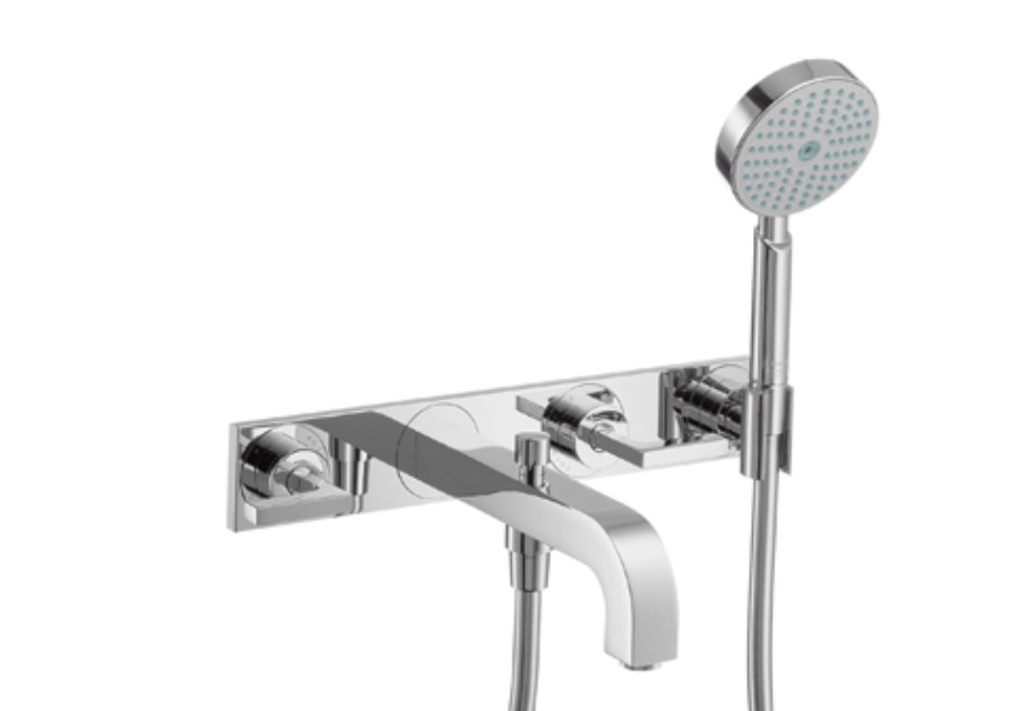 Axor Citterio 3-Hole Bath Mixer with lever handles and plate DN15 by ...