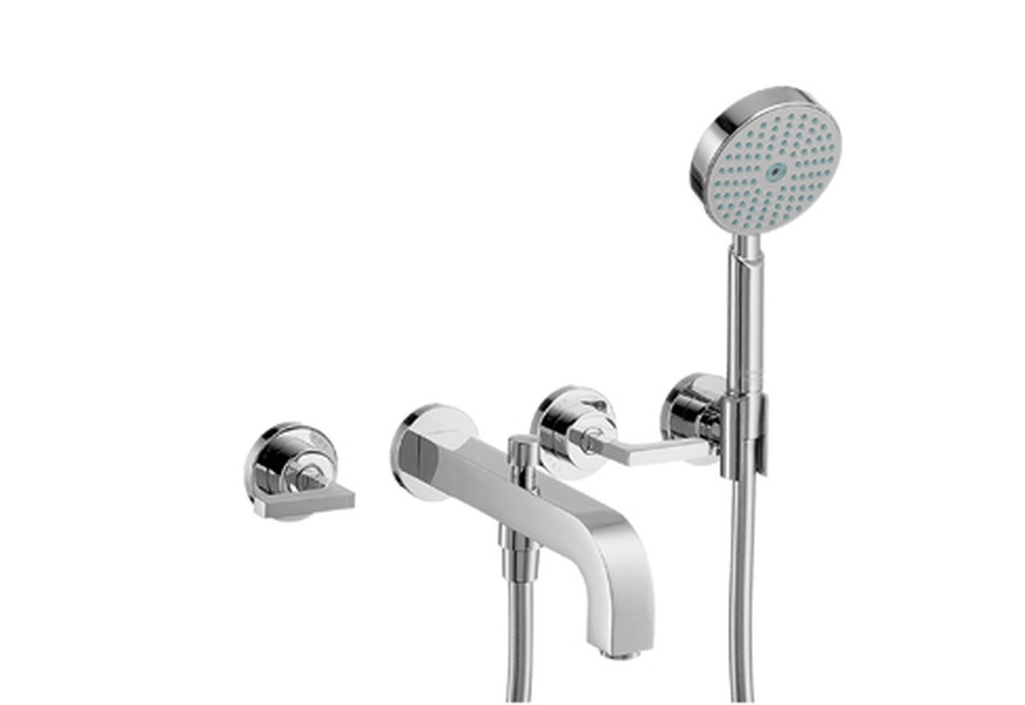 Axor Citterio 3-Hole Bath Mixer with lever handles DN15