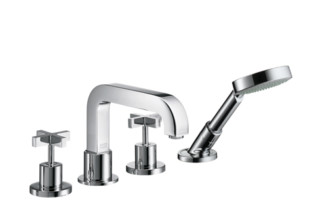 Axor Citterio 4-Hole Rim-Mounted Bath Mixer with cross handles DN15  by  Axor