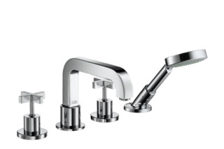 Axor Citterio 4-Hole Tile Mounted Bath Mixer with cross handles DN15  by  Axor