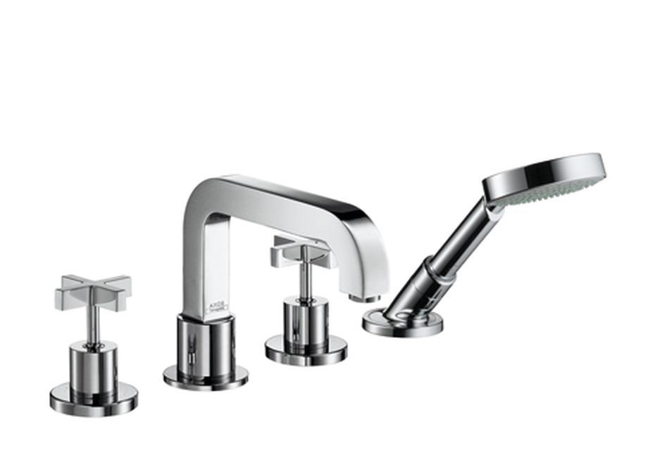 Axor Citterio 4-Hole Tile Mounted Bath Mixer with cross handles DN15