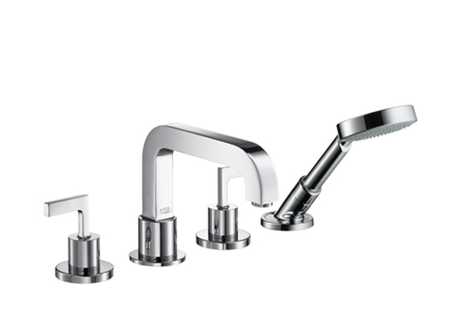 Axor Citterio 4-Hole Tile Mounted Bath Mixer with lever handles DN15
