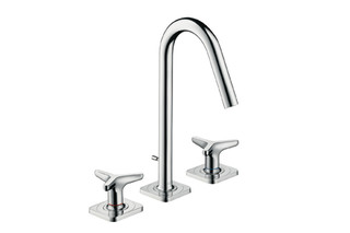 Axor Citterio M 3-Hole Basin Mixer with star handles and escutcheons, DN15  by  AXOR