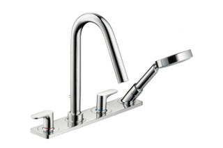 Axor Citterio M 4-Hole Tile-mounted Bath Mixer with plate DN15  by  Axor